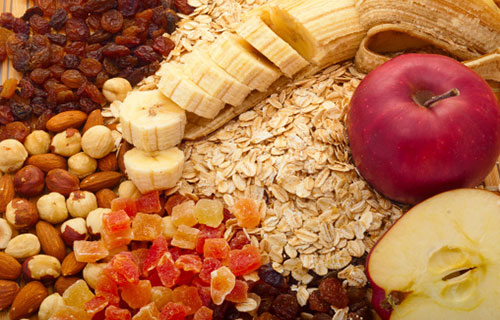 Naturally fiber-rich foods